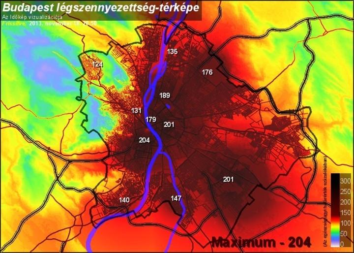 Budapest légszennyezettsége